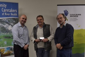Rod Taylor (DELWP), Michael Spencer (SRCMN Chair) and Bertram Lobert (SRCMN Coordinator)