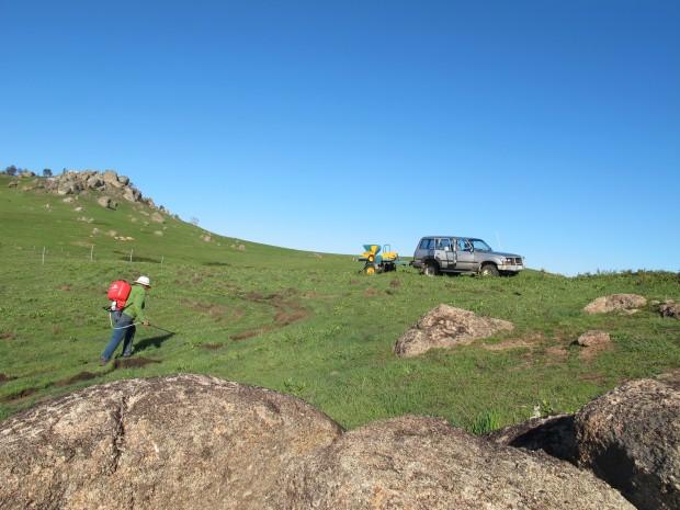 Janet & Justus restoring Cathy's burnt wetland tender site